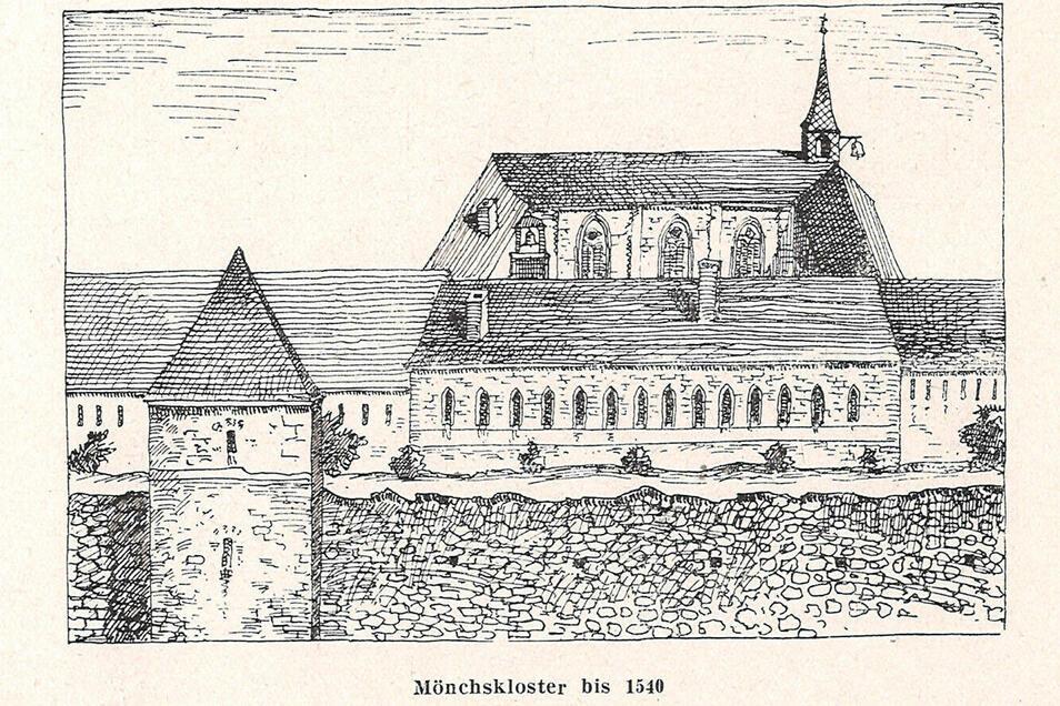 Das ehemalige Kloster an der Heinrich-Heine-Straße, von der Promenade aus gesehen.
