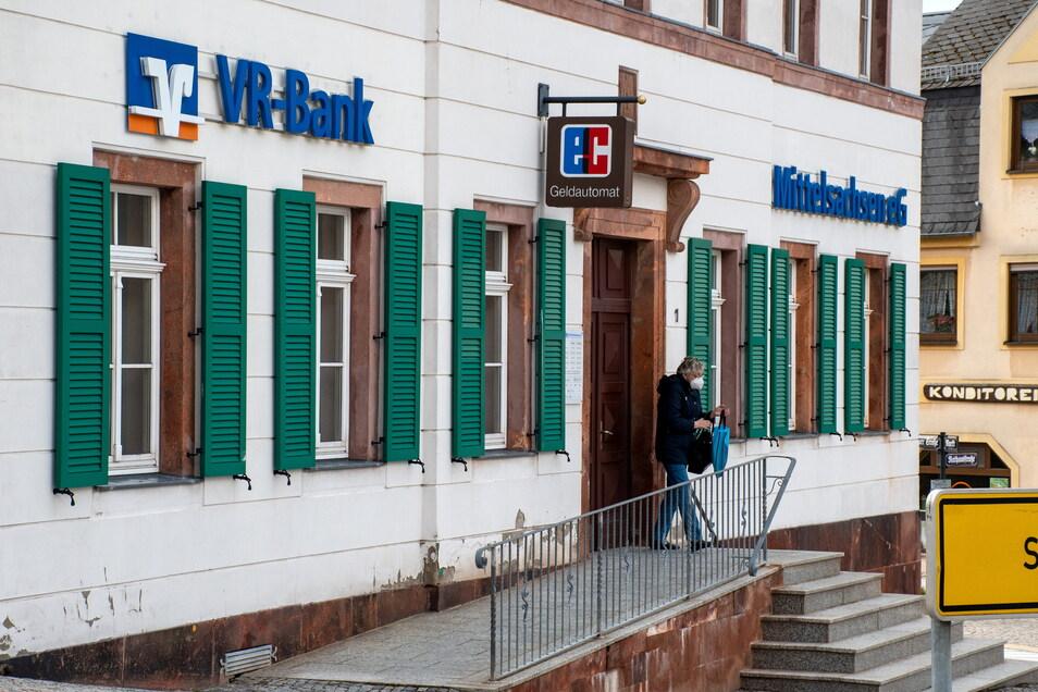 Die Filiale der VR-Bank Mittelsachsen in Hartha wird im Januar 2022 geschlossen.