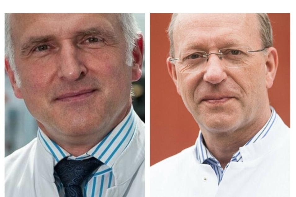 Dr. Steffen Handstein (links) und Dr. Hans-Martin Rothe, Chefärzte am Görlitzer Klinikum, gehören zu den Top-Ärzten Deutschlands.