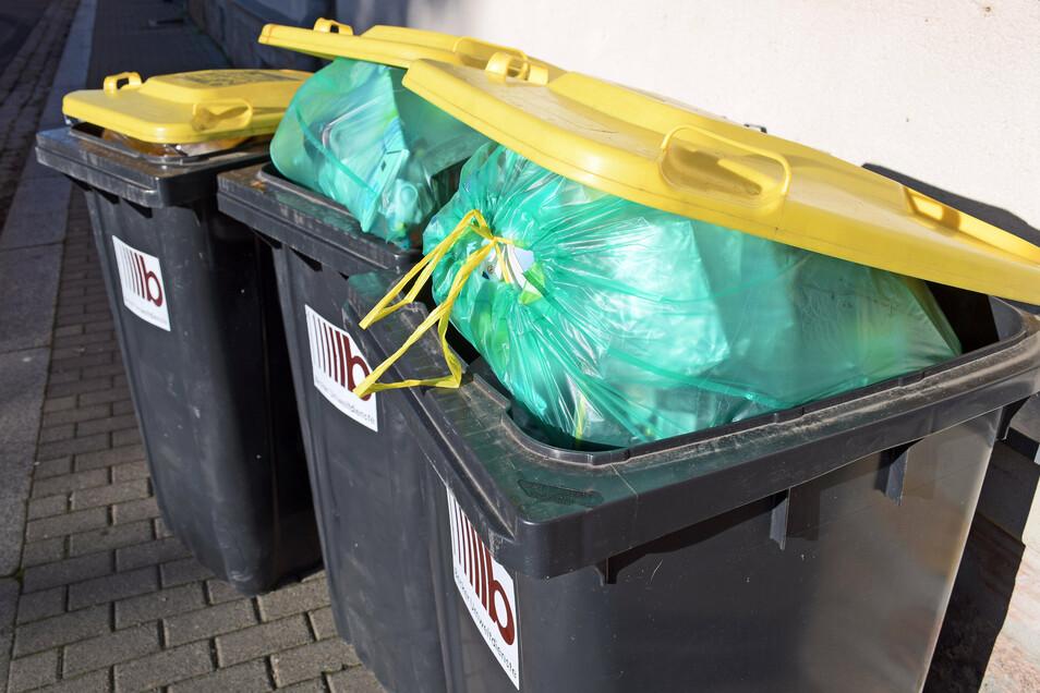 In den nächsten Wochen werden im Altkreis Meißen Gelbe Tonnen ausgeliefert. Das wirft viele Fragen auf.
