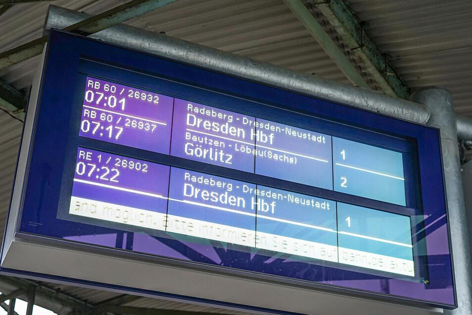 Vor zwei Jahren feierte die Bahn mit den digitalen Anzeigetafeln auf den Bischofswerdaer Bahnsteigen eine große Innovation.