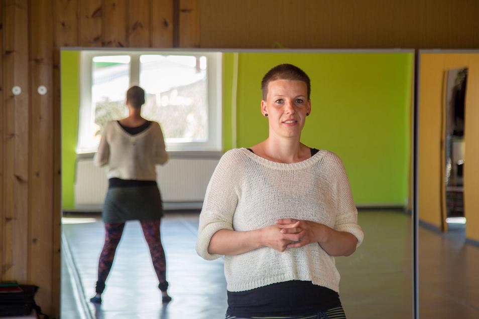 Sarah Schröter ist momentan allein in ihrem Tanzstudio gangArt in Rothenburg.