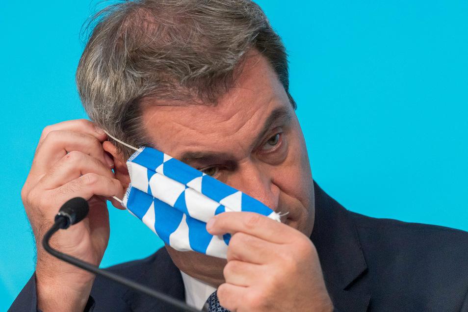 Markus Söder (CSU), Ministerpräsident von Bayern,  und seine Regierung stehen wegen einer Panne bei Reiserückkehrer-Tests unter Druck.