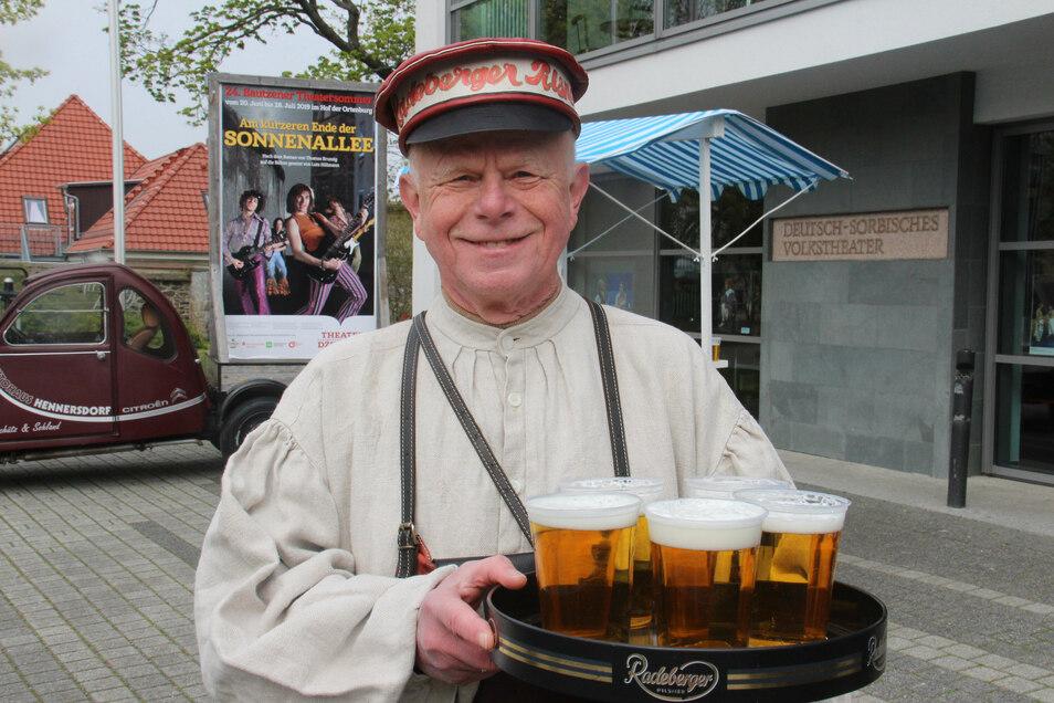 Bierkutscher Ernst fehlen die Touristen.