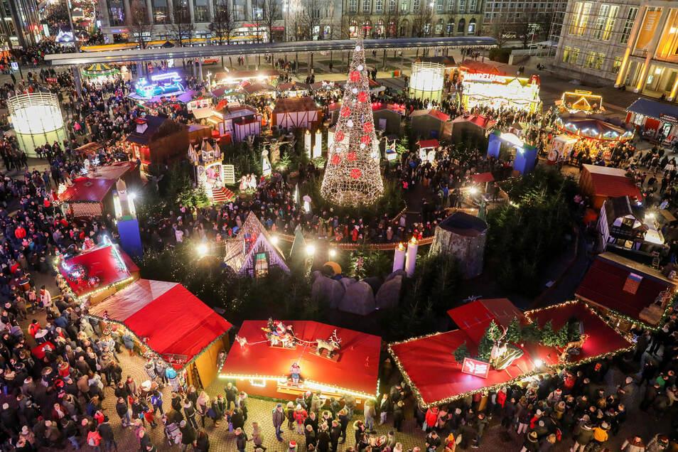 Der Weihnachtsmarkt auf dem Augustusplatz in Leipzig fällt dieses Jahr aus.