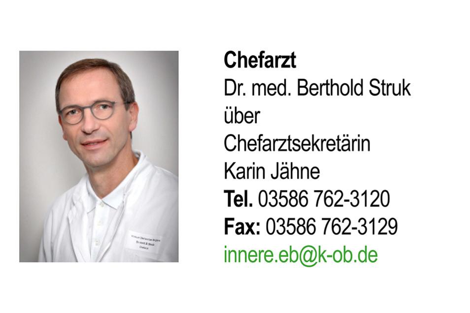 Das Team von Dr. med. Berthold Struk setzt sich in EBERSBACH-NEUGERSDORF für die Gesundheit ein. Zum Leistungsspektrum gehören an diesem Standort: Kardiologie (insbesondere INterventionelle Kardiologie), Angiologie/Schlaganfall, Gastroenerologie, Hämatologie/Onkologie und Palliativmedizin.