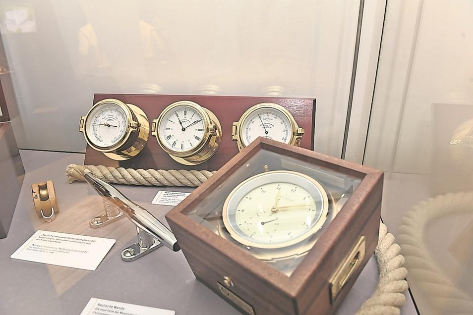 Neustart mit Schiffsuhren: Vor 25 Jahren wurde die Firma als Schiffsuhrenbauer neu gegründet. Diese Uhren werden heute noch produziert.