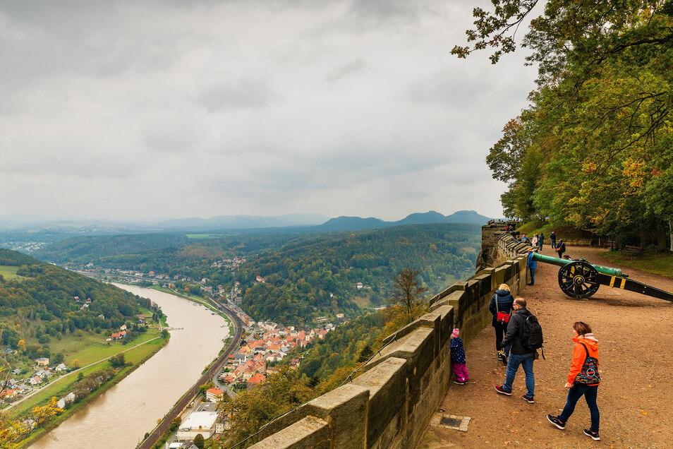 Kurz vor dem zweiten Lockdown: Im Oktober 2020 durften zuletzt Besucher auf die Festung Königstein.