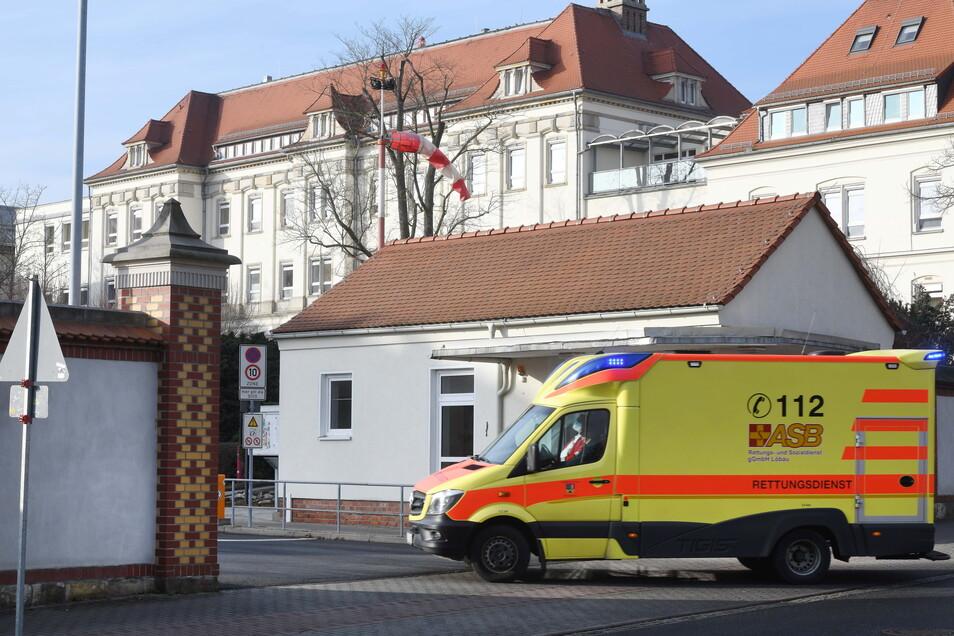 Blick auf das Krankenhaus Zittau.