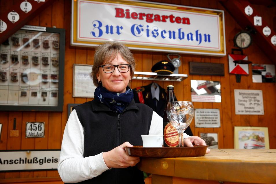 Cornelia Kluetter del Restaurante Zur Eisenbahn en Wiesa.