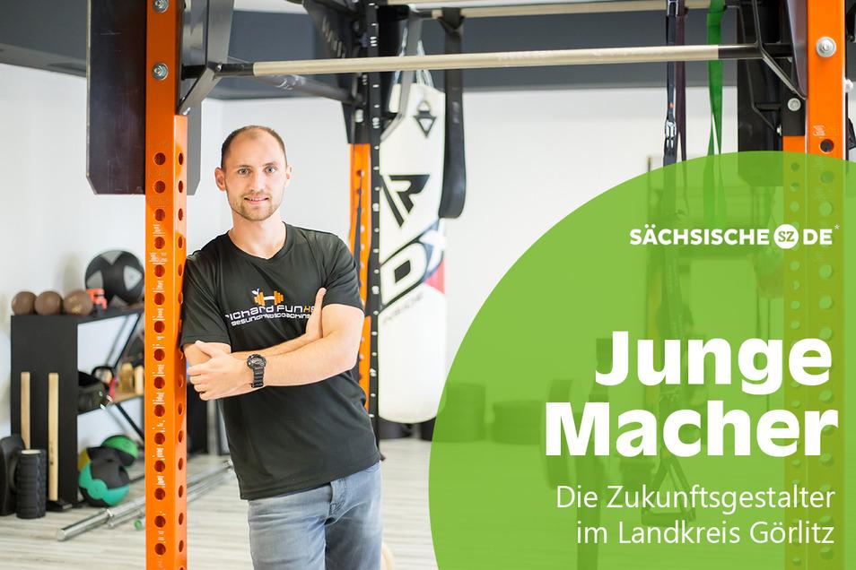 Seit Juli 2020 betreibt Richard Funke in der Görlitzer Straße in Niesky sein eigenes Fitnessstudio. Er selbst ist erst 24.