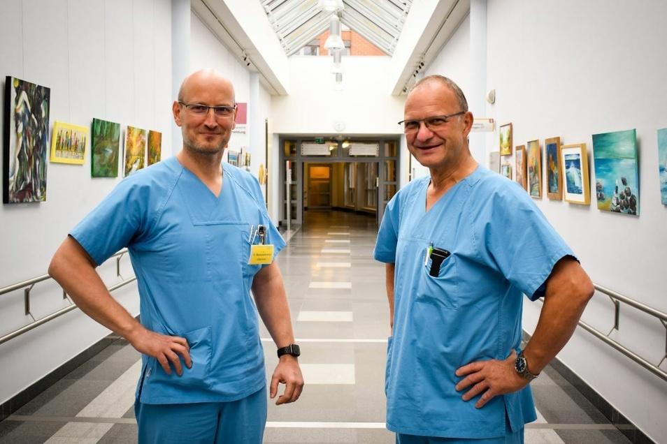 Dr. Ralf Banaskiewicz (li.) übernimmt die Görlitzer Unfallchirurgie von Dr. Uwe Karsten Schöbel.