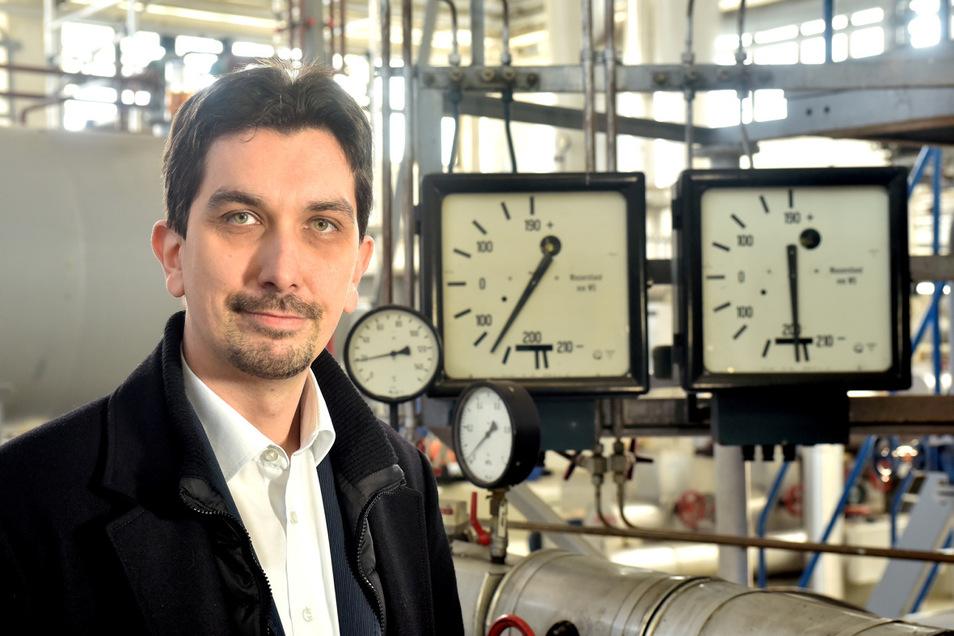 Steffen Ain ist Chef der Stadtwerke Oberland in Ebersbach-Neugersdorf.