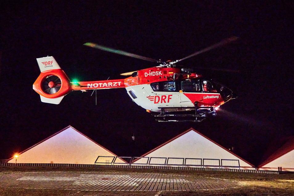 Der Verletzte musste zur Behandlung nach Leipzig geflogen werden.