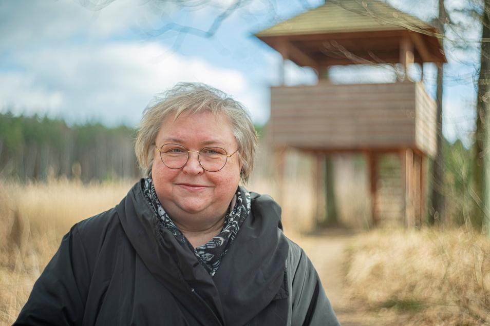 Das Herz von Cornelia Schlegel schlägt für das Naturschutzgebiet Königsbrücker Heide. Im April geht die Projektmanagerin in den Ruhestand.