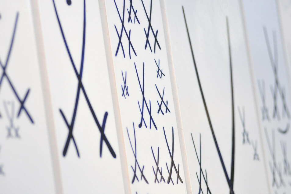 Symbolfoto Schwerter Porzellan Manufaktur Meissen.