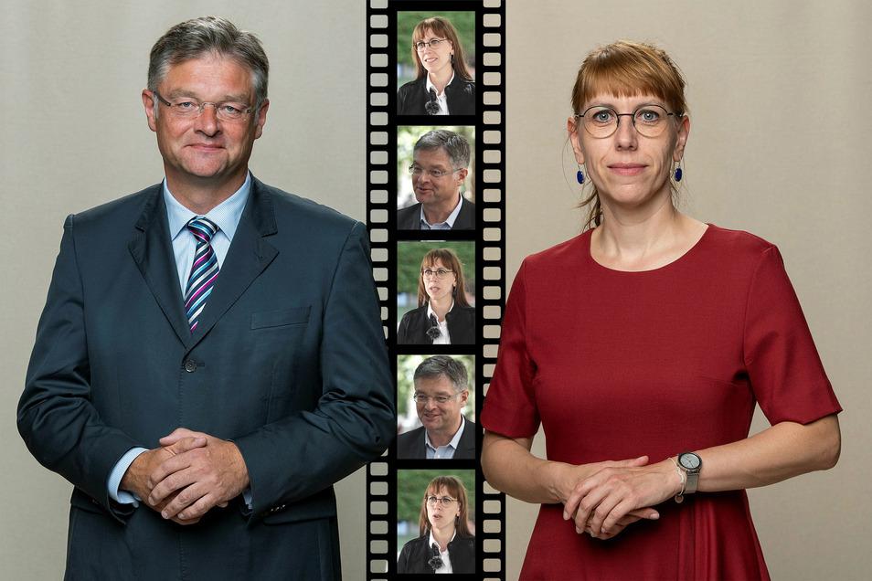 Grüne-Spitzenkandidatin Katja Meier und FDP-Chef Holger Zastrow.