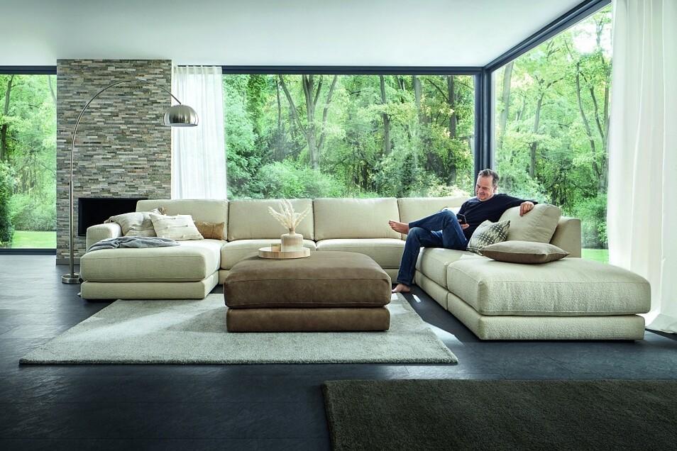 Ob große Sofa-Landschaft...