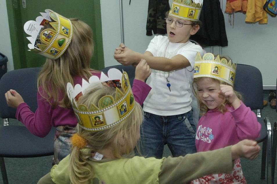 """""""Party auf der Ritterburg"""" spielte diese Kindergruppe der Spielbühne Großenhain."""