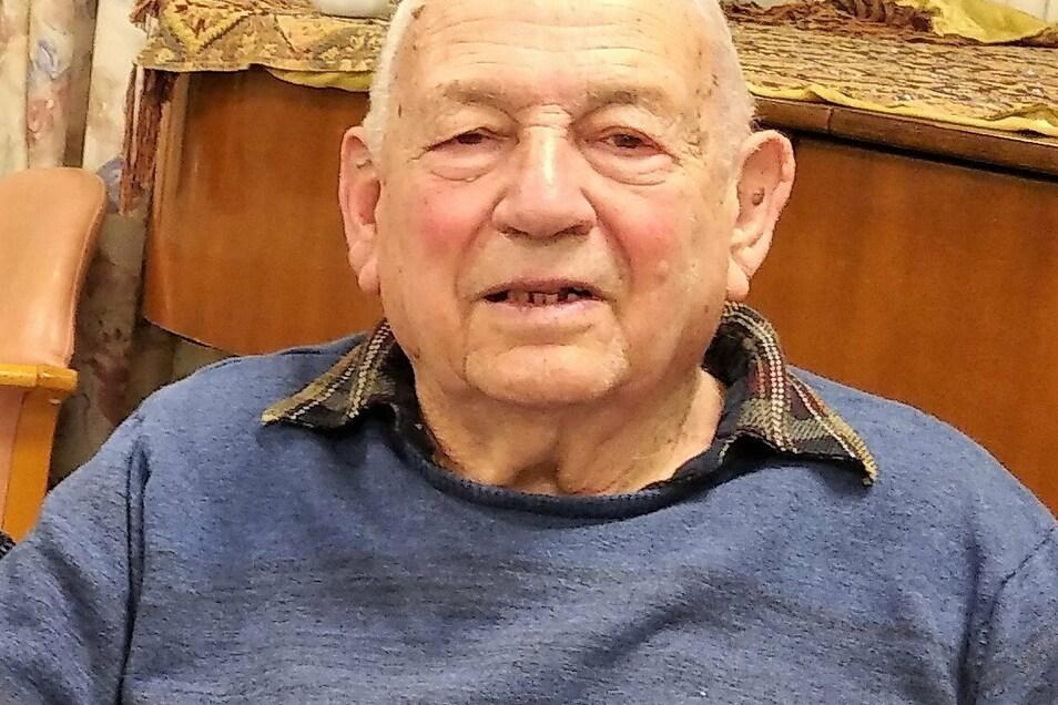 Thomas Geve (91) vor wenigen Wochen in seinem Zuhause in Israel.
