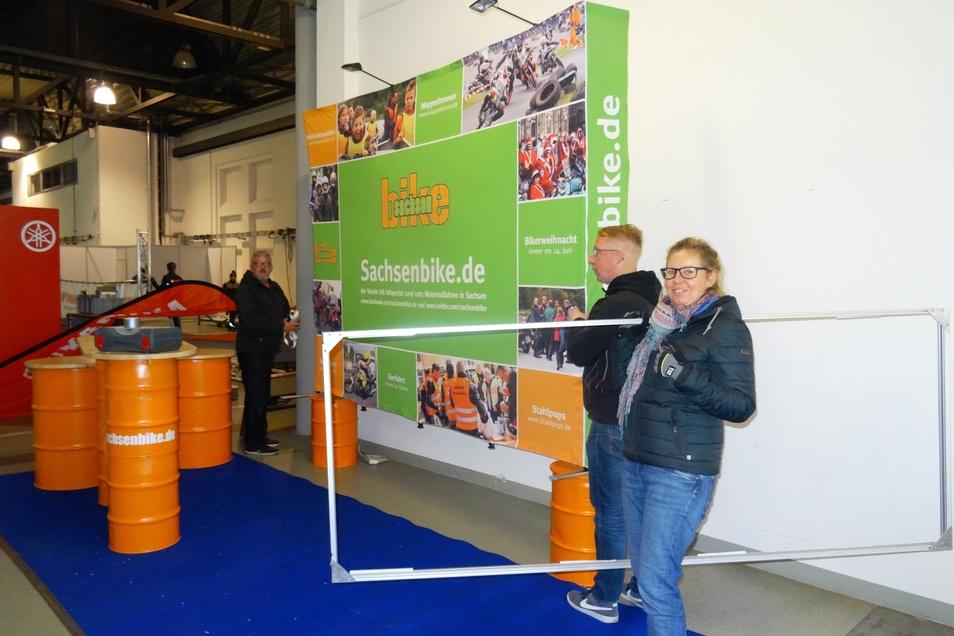 Nicht nur Motorradanbieter, auch Vereine wie Sachsenbike sind auf der Messe präsent.