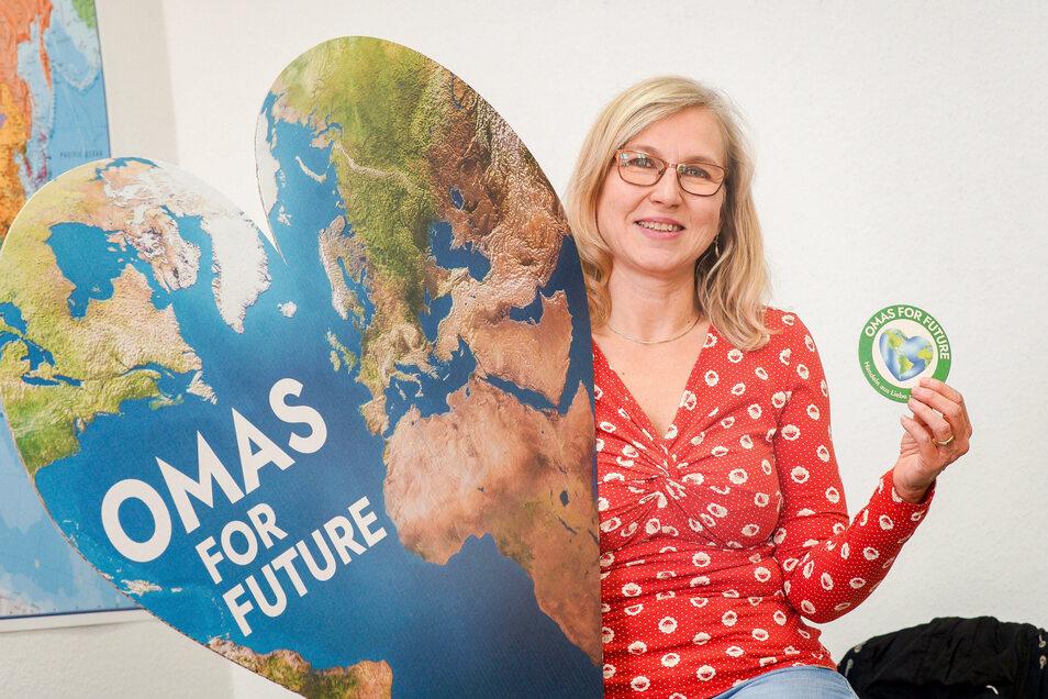 """Ines Kasper gründete die Regionalgruppe der """"Omas for Future"""" in Bautzen. Jetzt sucht sie weitere Mitstreiter."""