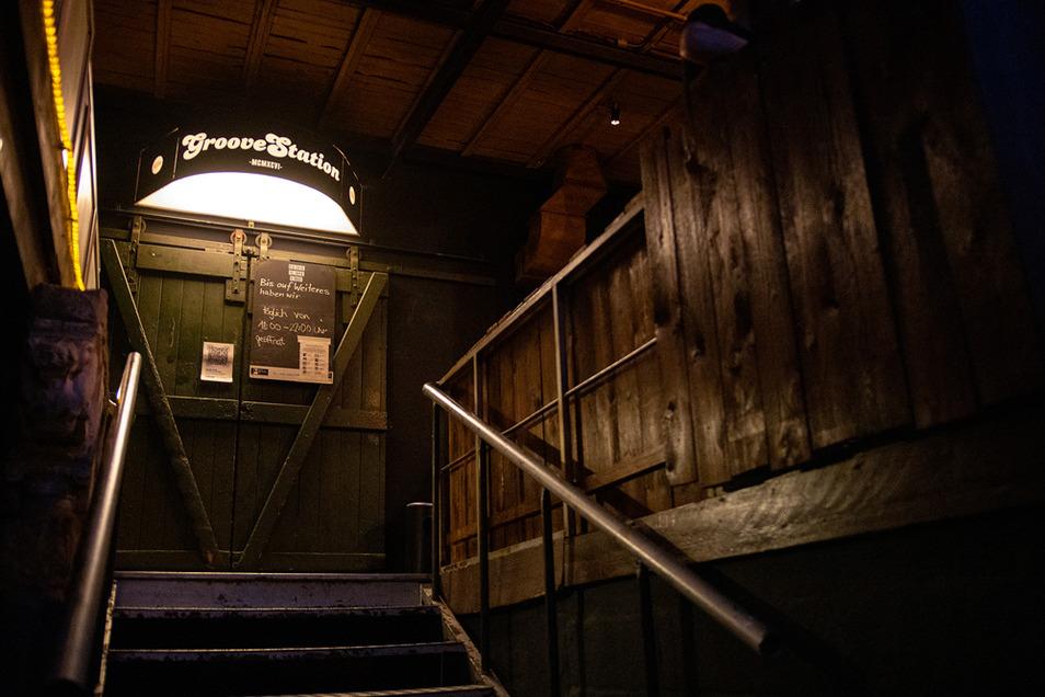 Die Groovestation in der Neustadt - hier der Clubeingang - bekam den Musikpreis Applaus.