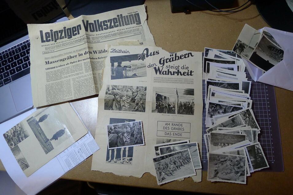 Die mehr als 70 Fotos, zwei Plakate und eine Zeitung waren überraschend in einem Leipziger Vereinsarchiv aufgetaucht.