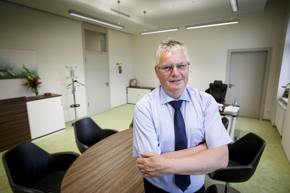 Bernd Lange ist seit 2008 Landrat des Kreises Görlitz. Er kommt aus dem früheren NOL, war unter anderem Bürgermeister von Rothenburg.