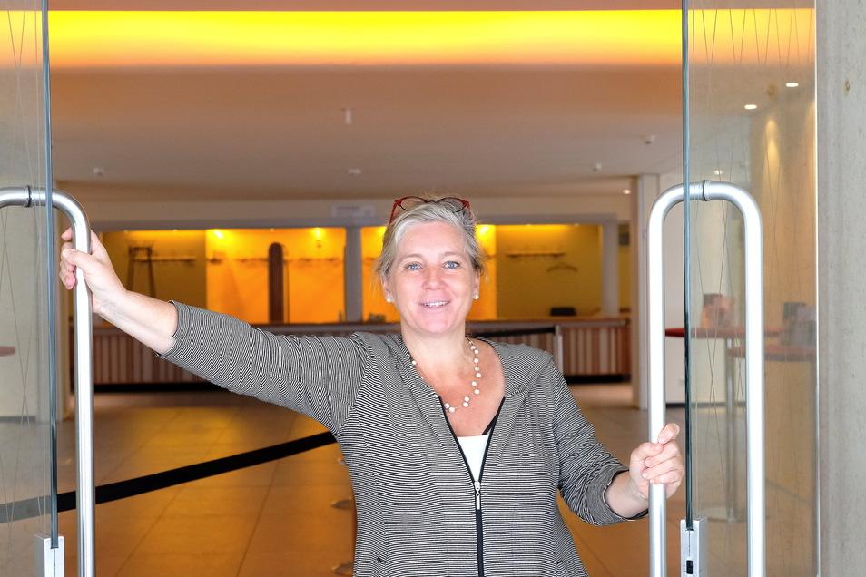 Würde nur zu gern die Türen zu ihrem Haus weit aufreißen: Meißens Theaterchefin Ann-Kristin Böhme und ihre Mannschaft arbeiten am Neustart.