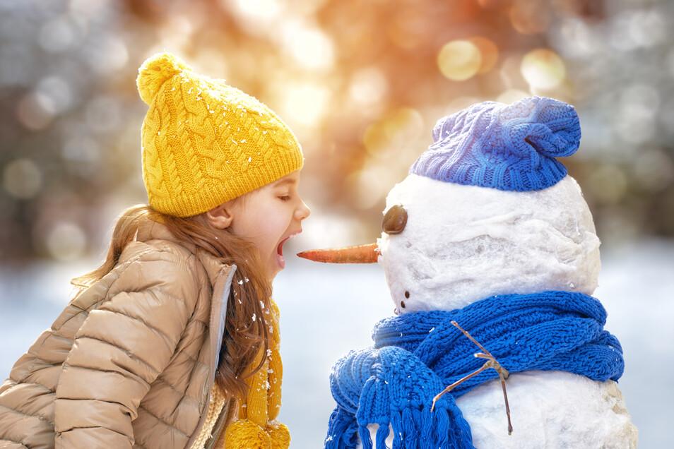Ein Schneemann macht gute Laune.