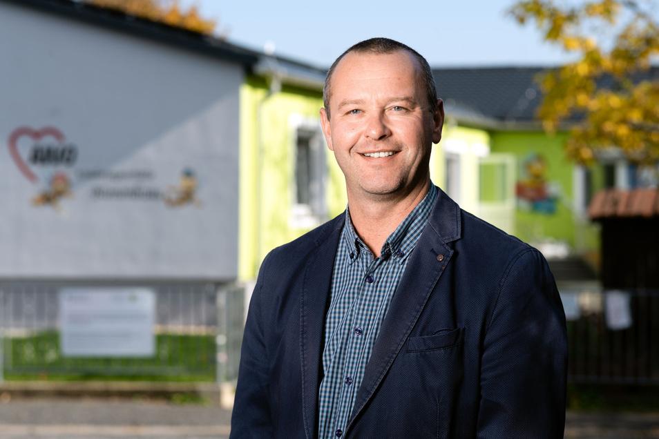 Sebastian Hein (CDU) bleibt in Burkau für weitere sieben Jahre Bürgermeister.