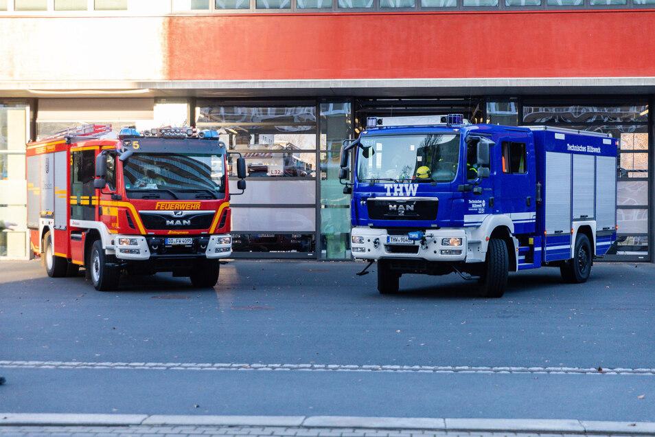 Ruft der Landkreis Meißen einen Katastrophen-Voralarm aus, würden Einsatzkräfte wie das THW in Bereitschaft gesetzt.