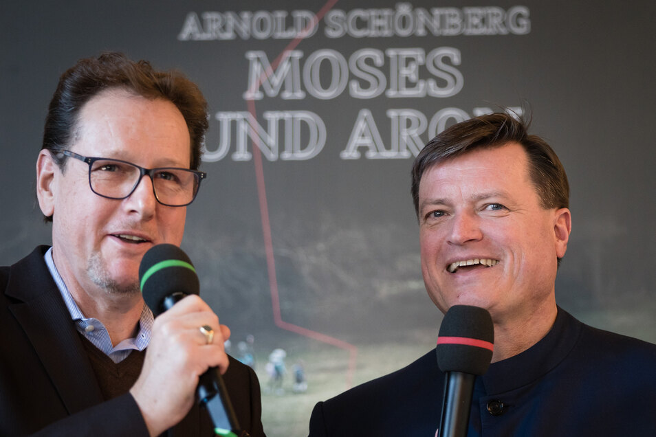 Intendant Peter Theiler und der Dirigent Christian Thielemann
