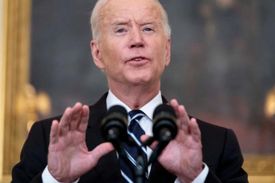 """US-Präsident Joe Biden ist vermittelnder im Ton, doch auch er führt die Politik """"America First"""" fort und betont den Zusammenhalt des Westens vor allem dann, wenn dieser seinem Land nutzt."""