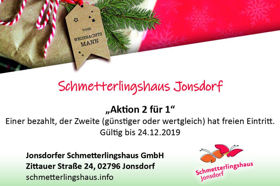 Jonsdorfer Schmetterlingshaus GmbH, Zittauer Straße 24, 02796 Jonsdorf, schmetterlingshaus.info