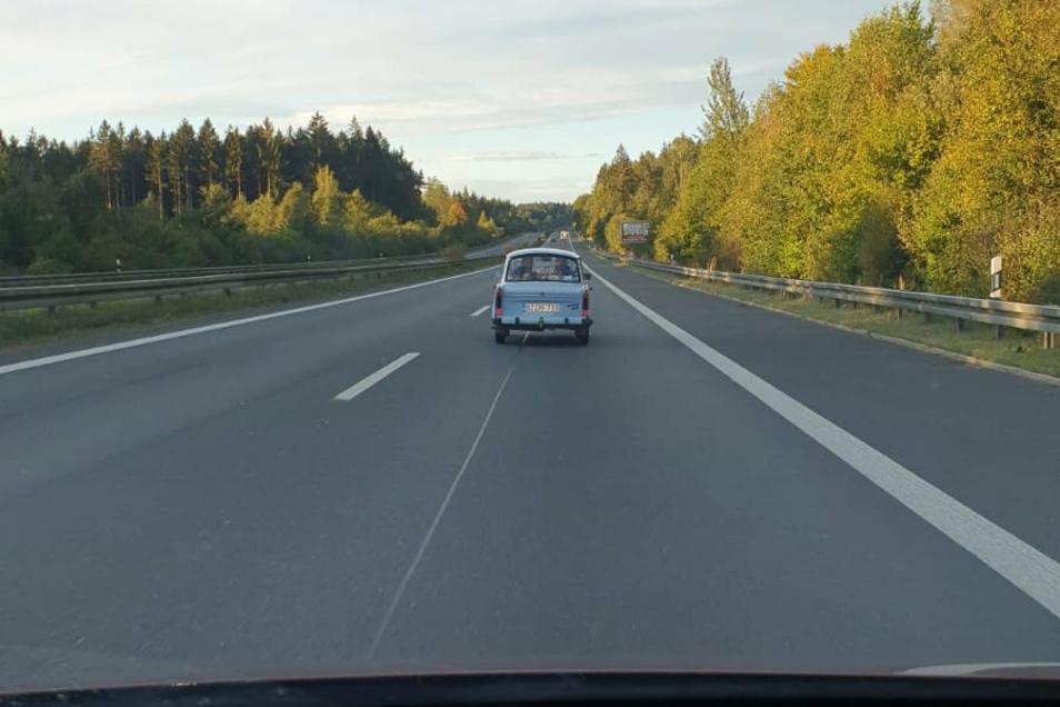 Der Trabi am Sonntag auf dem Weg in Richtung Großglockner.