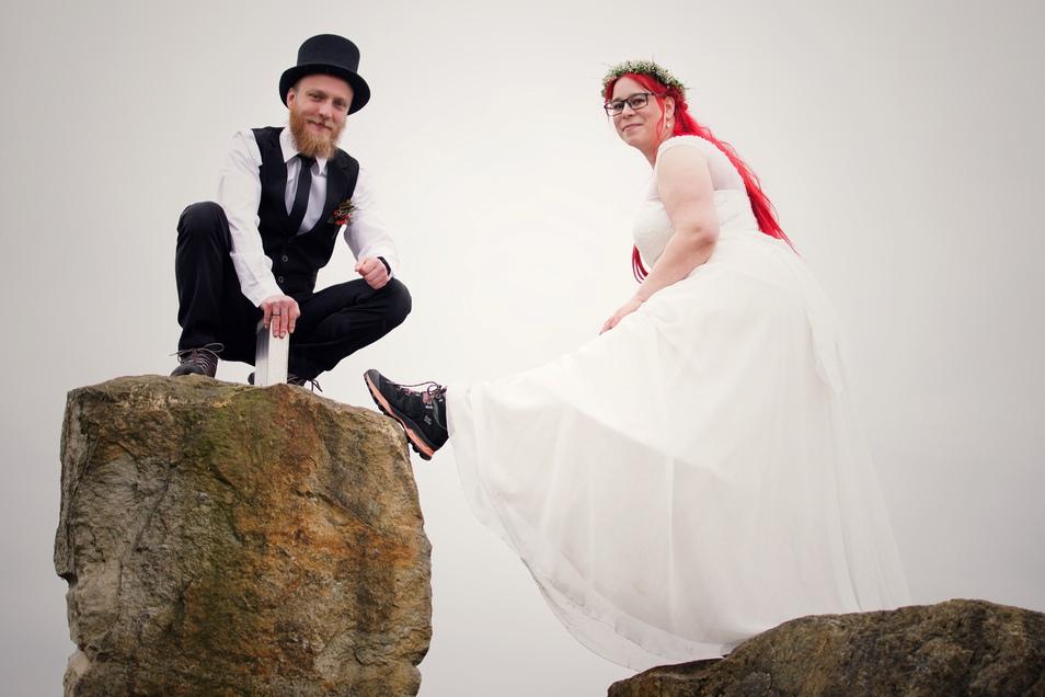 Katharina und David Dausch haben im April geheiratet und sind nun doppelt guter Hoffnung.