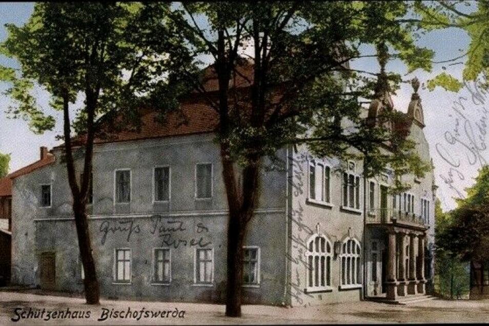 Das Schützenhaus auf einer Postkarte aus dem Jahr 1914.