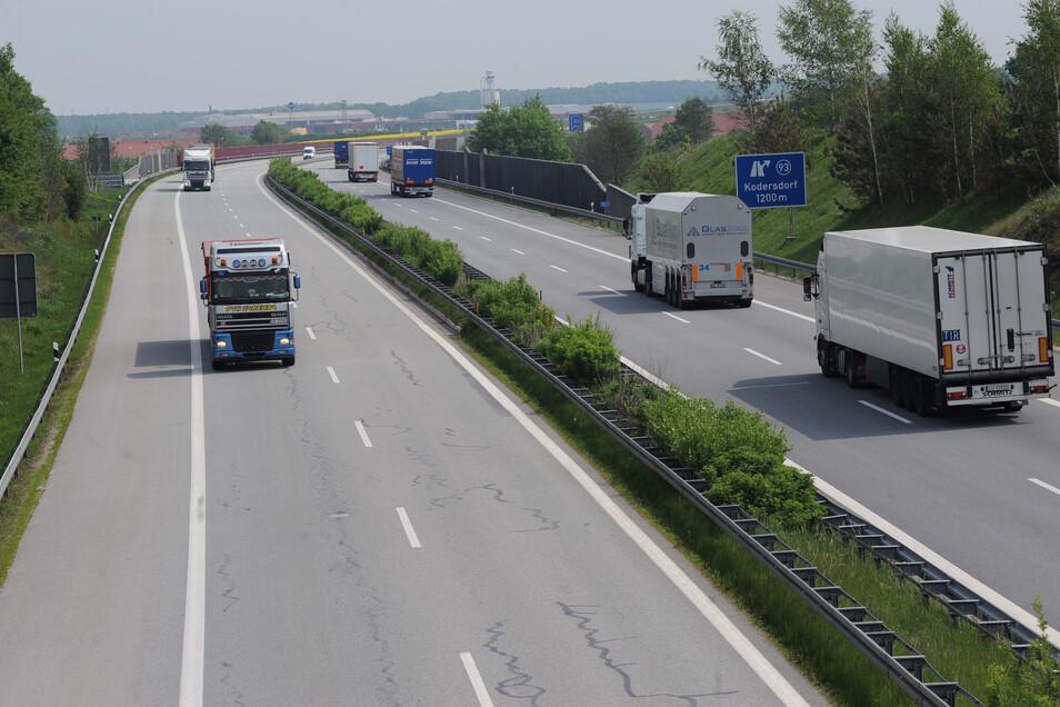 Blick auf die A4. Kurz dahinter passierte der Unfall.