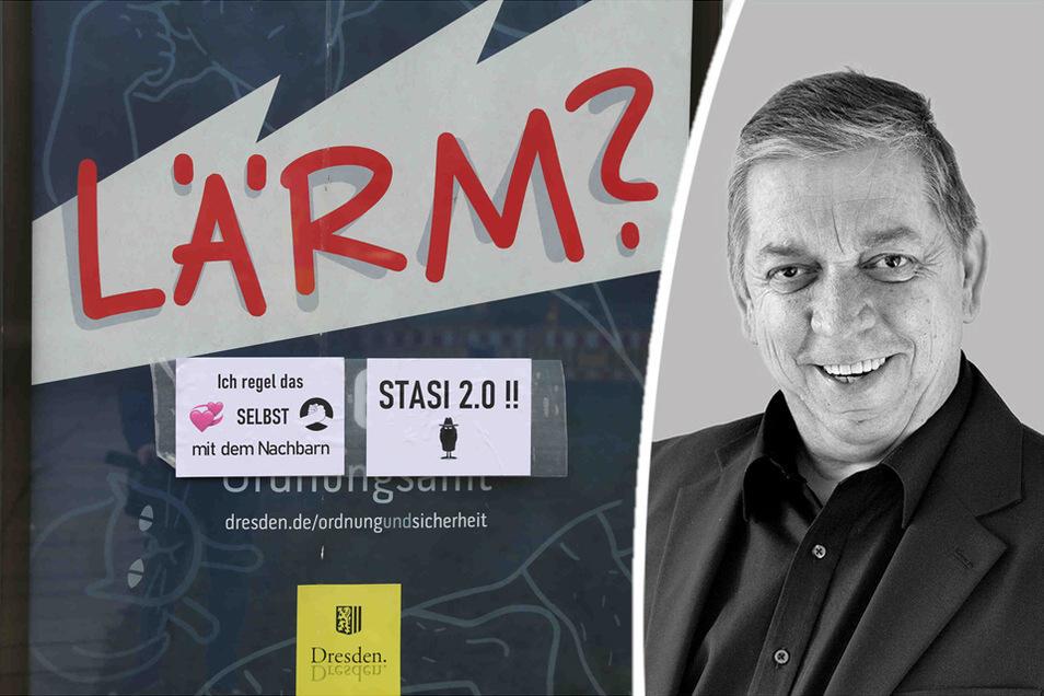 Christoph Springer kommentiert die Werbekampagne für die Telefonnummer des Dresdner Ordnungsamtes.