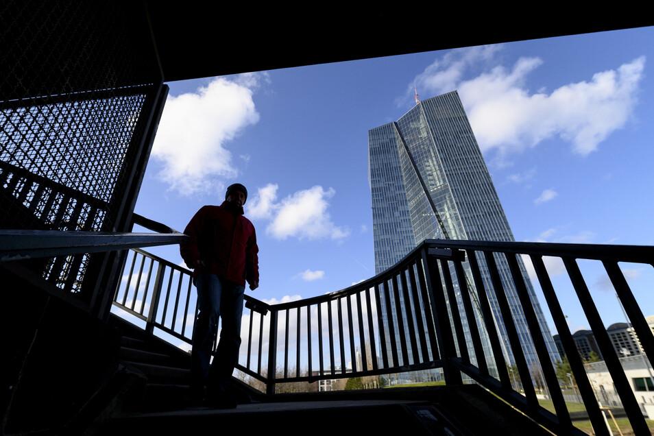 Die Europäische Zentralbank in Frankfurt/Main.