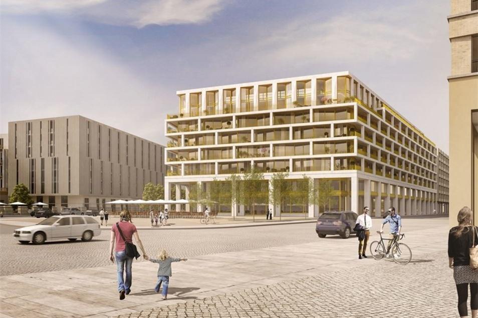 So soll der Neubau am Postplatz aussehen. Im Sommer wird die Baugrube ausgehoben.