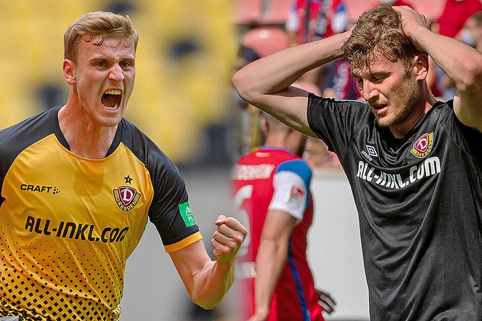 Christoph Daferner war im Aufstiegsjahr mit zwölf Treffern Dynamos bester Torschütze, auch in dieser Saison traf er anfangs dreimal. Doch nun hakt es auch beim Stürmer – steht er beispielhaft für das Team?