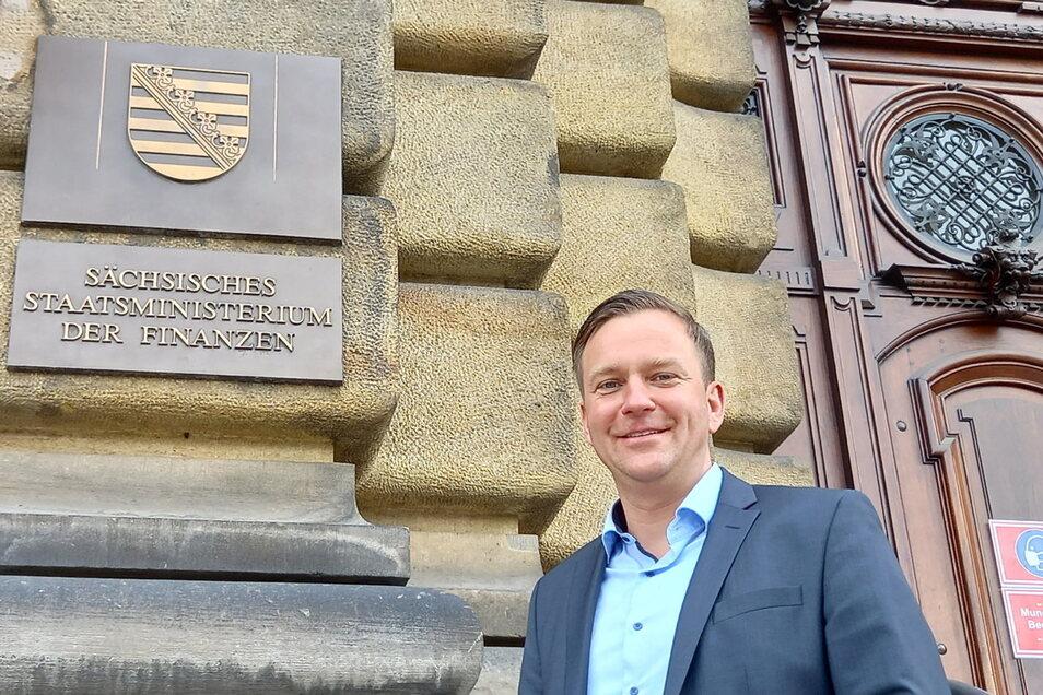 Vom Finanzministerium ins Gottleubaer Rathaus: Thomas Peters ist der neue Bürgermeister von Bad Gottleuba-Berggießhübel.