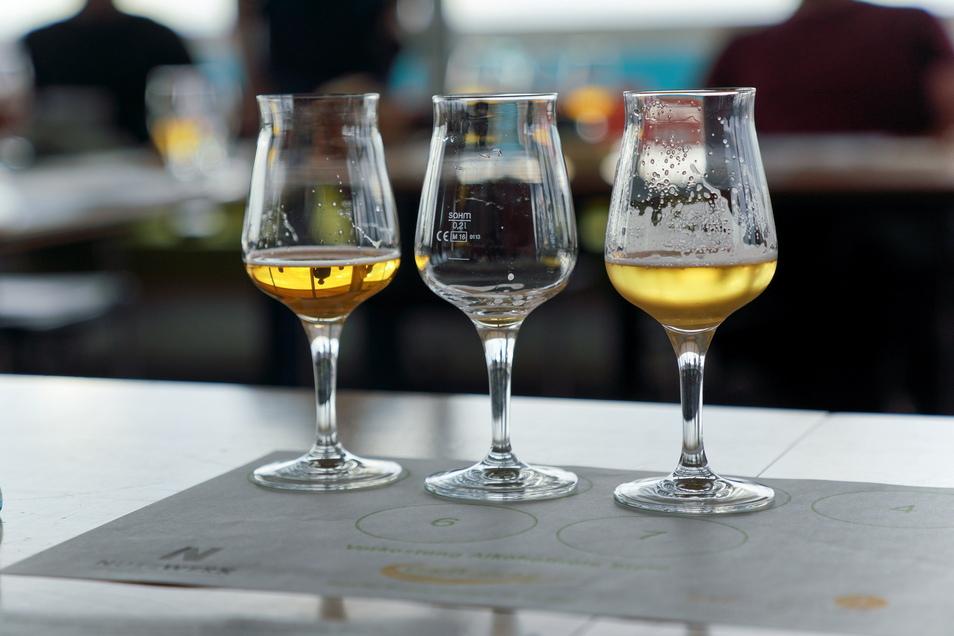 Bitte keine Humpen: So sehen geeignete Gläser für eine standesgemäße Bierverkostung aus.