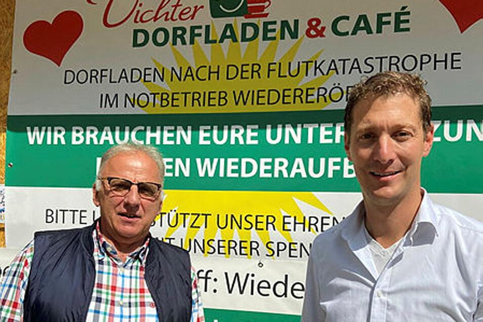Günter Scheepers (l.) und Jochen Emonds in Vicht organisieren seither mit Mitstreitern die Bürger-Selbsthilfe.