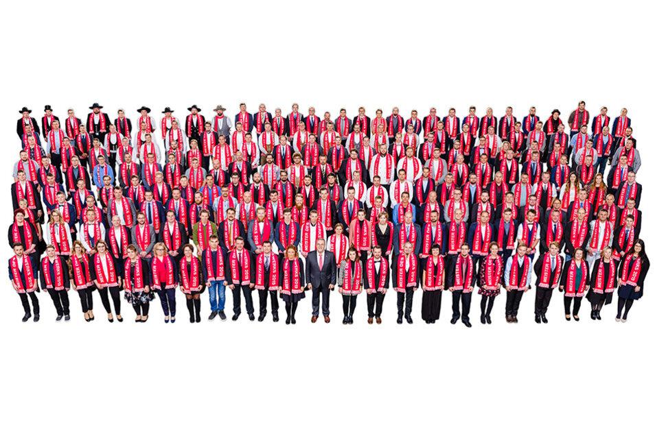 Der Meisterjahrgang 2019 im Rahmen der Meisterfeier im November 2019: 275 Handwerkerinnen und Handwerker schlossen im vergangenen Jahr ihre Meisterausbildung ab.