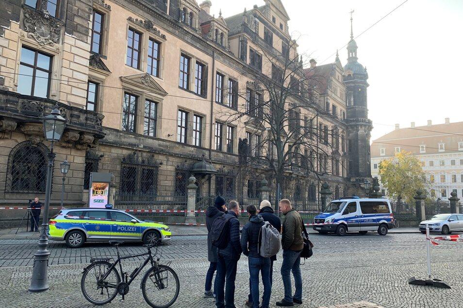 Der Polizeieinsatz vor dem Grünen Gewölbe