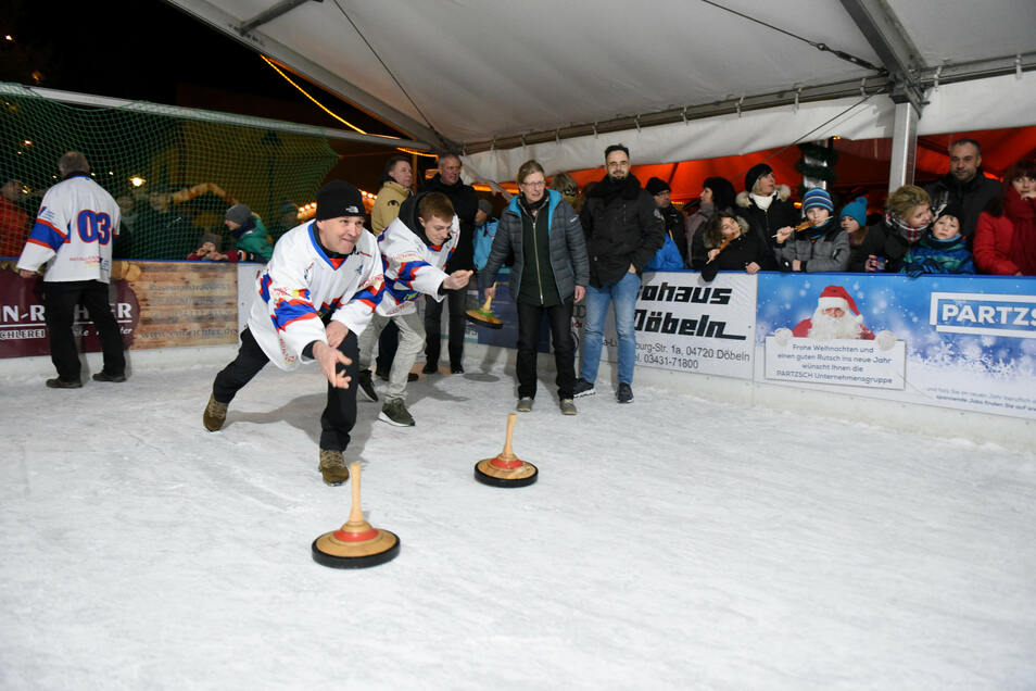 Mit dem Winterdorf der Stadtwerke Döbeln ist auch wieder ein neuer Eisstockschießen-Wettbewerb geplant.